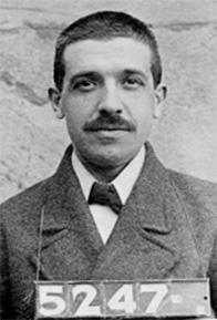 1910 Police Mugshot of Charles Ponzi