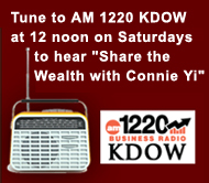 Listen to Webcast of 'Share the Wealth with Connie Yi'